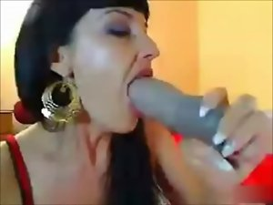 Wild Fake penis Throat Shagging Oral Sex Cam Show