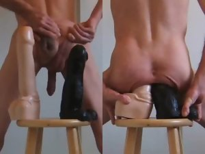 Double Rectal and Xxl big cock Fake penises Stretching My Dirty ass