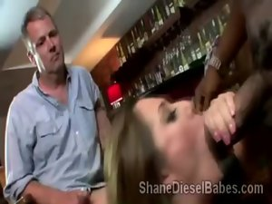 Great Brooklynn Jade licks and gets tongued in front of husband