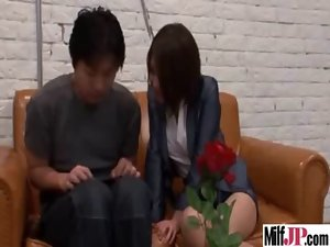 Explicit Sex With Lewd Buxom Seductive japanese Filthy bitch video-18