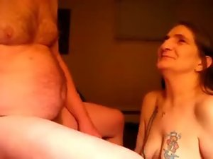 Cumming in mouth of ugly submissive granny. Perfect amateur