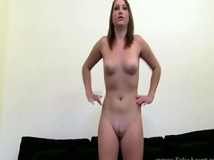 Perfect sex audition with 19 years old licking prick