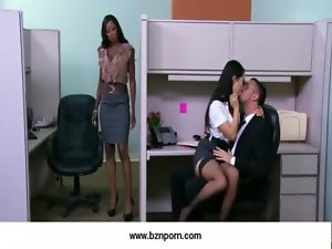 05-Big hooters screwed in the office
