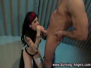 Emo fetish nympho gets lewd cumshot