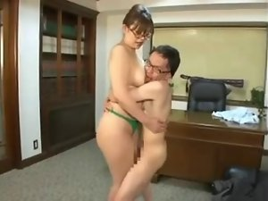 Jap Fatty Titfuck & Thigh Job
