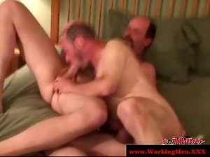 Experienced gay lads give each other head