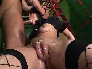 Lovely PussyPump Attractive Cop Lassie Horny Fuck