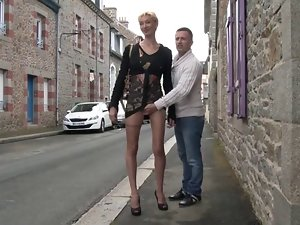French experienced Marie Helene banged in the street