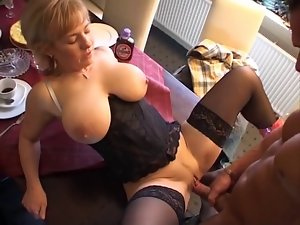 Big melons Mum Fuck On The Table