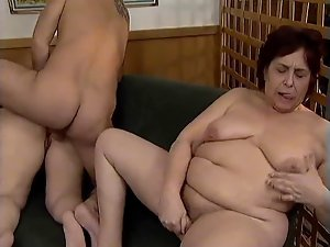 aged couple with next doors attractive mature