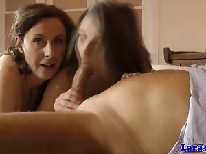 Euro lingerie experienced swaps cum with young lady