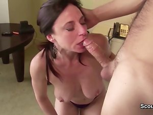 German Mamma and Dad in privat Sextape first time Bum fuck