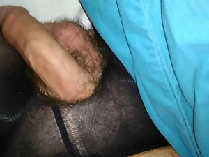 Soft phallus stockings very hairy legs butt hole