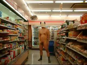 Public nudity convenience store masturbation
