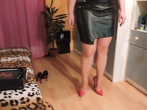 High Heels luscious legs and leather