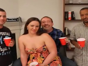 plumper slutty wife gangbang and bukkake