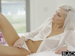 BLACKED Preppy Tempting blonde Sex partner Kacey Jordan Cheats with BB