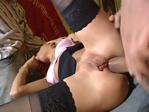 dp luscious blondie with huge twat