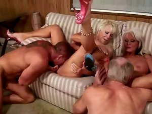 3 sensual experienced couples grinding each other