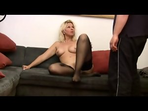 Attractive pierced german light-haired screwed in muff and bum