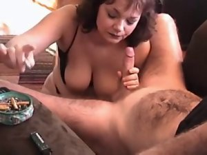 big breasted cougar knows how to give a unbelievable cock sucking