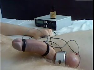 Strange orgasm with electricity