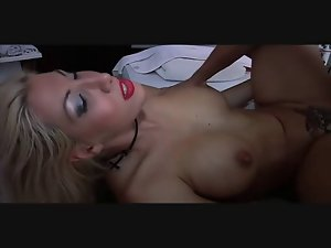 tempting blonde cougar with enormous tits gets squirt and rectal