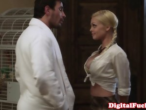 Big titted Jesse Jane strokes and shags closeup