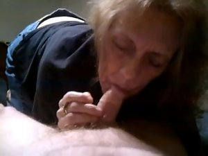 Grandma Cock sucking and Cum