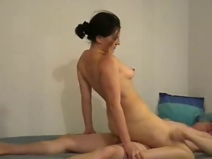 Amateur German Cougar Ride On Prick