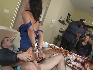 Hubby watches the FBI man fuck his smoking filthy slutty wife