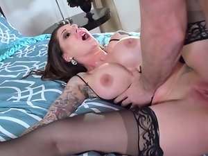 Darling Danika and Johnny Sins organize a wonderful porn show