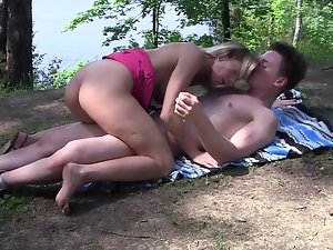 Lovely 19 years old vixen gets banged in the forest by a stranger