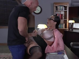He is a bad worker but he can satisfy boss's tempting needs