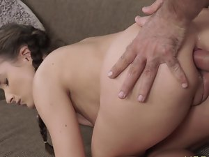 Sensual lady is going to get all her perfect slits banged in rough way