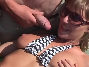 Butthole sex on the boat with three sex-hungry Slutty russian fellows