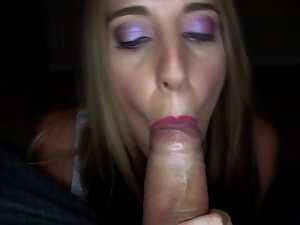 The amateur is close to the camera while banging and fellatio