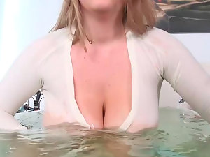 Milky blondie whore Kali with enormous boobs gets drilled deeply