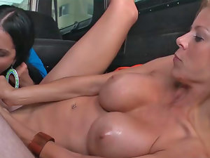 Diamond Kitty and Alexis Fawx get boned wild in a van