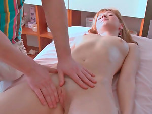 Rosanna getting nicely stimulated by adult sexual object while being massaged
