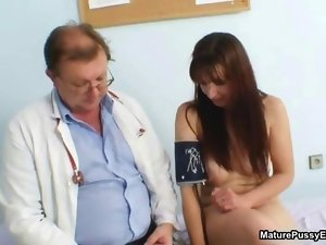 Sensual doctor finger banging