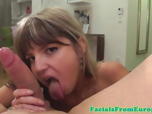 Diminutive facial wanting sensual russian point of view bj