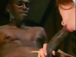 Sensual nurse Gwen Summers accepts care of large black pecker