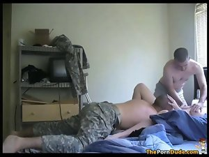 Army Fellows Share A Fatty Fallen angel