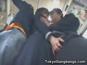 Asian Schoolgirl Fingered in Public