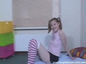 Seductive raunchy teen doll painfully banged clip