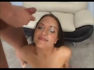 Jamie Huxley gets her stunning face cum drenched point of view