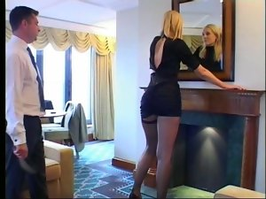 A Nympho get spanked by her bodyguard