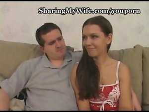 Filthy dirty wife screwing while husband is watching