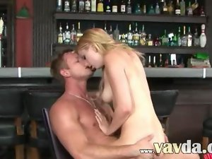 Glamour sex in the bar movie